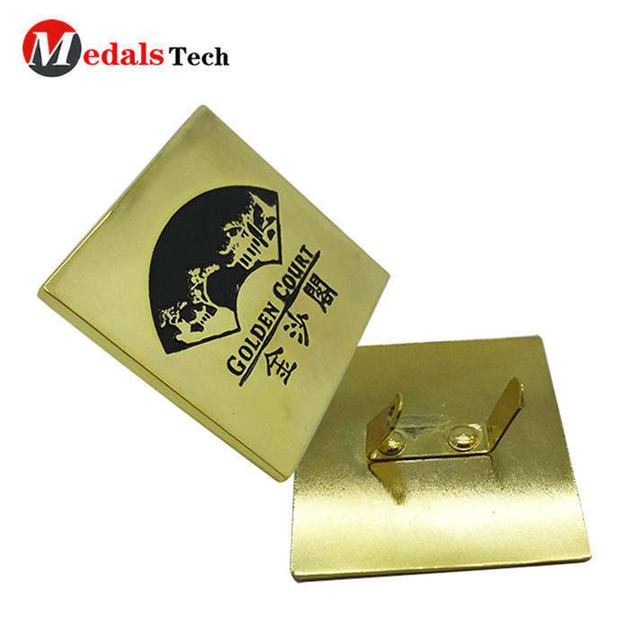 Gold plated personalized metal wine nameplate/metal car nameplate