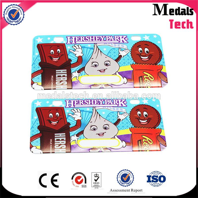 China wholesales bag parts and accessories brand metal logo handbag name plate in bulk