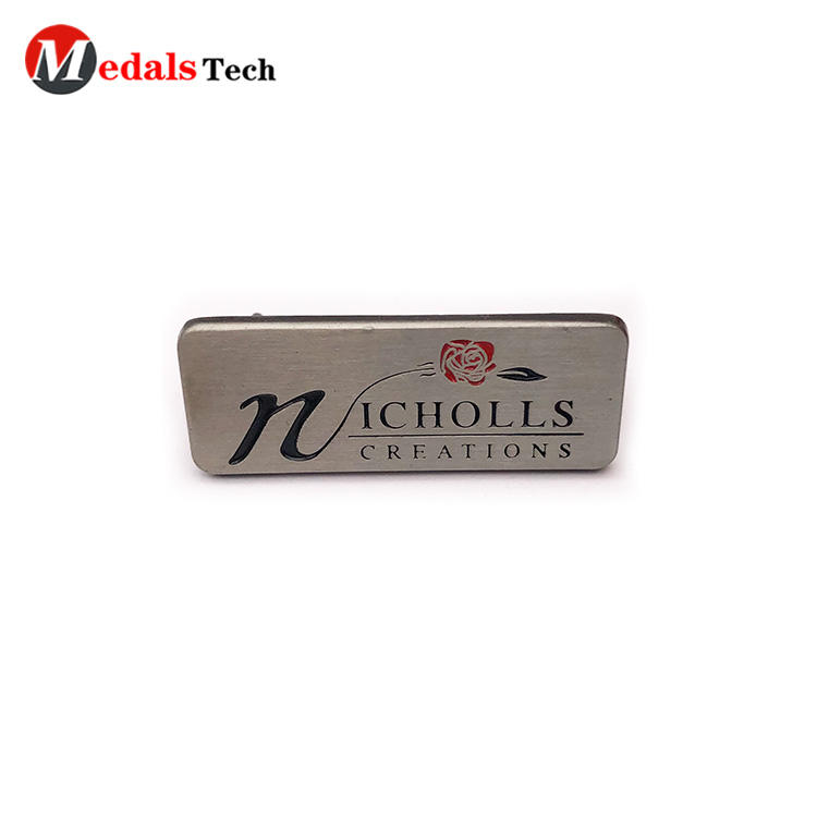 High quality enamel coloredsilver metal mini plate for handbag