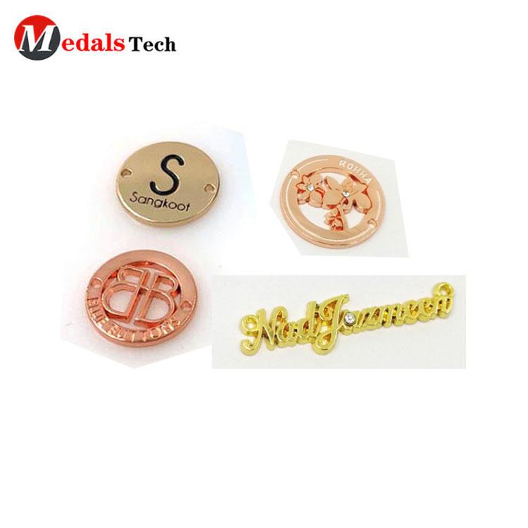 USA standard environmental custom name engraved clothing metal label for handbag/ wallet hardware