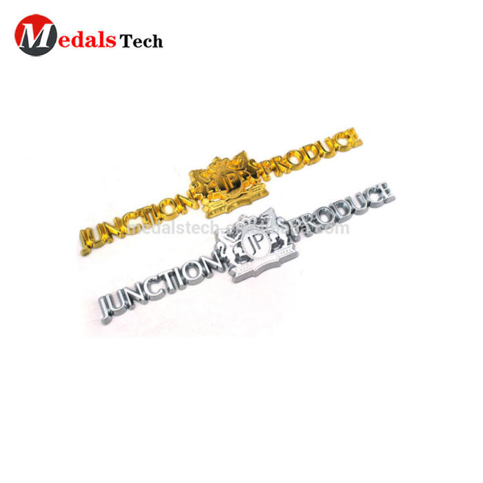 Free design gold plated letter Metal Logo custom Name Plate For Handbags, Metal Label