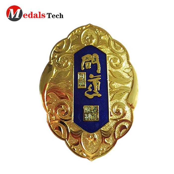 Custom professional engraved letters logo metal nameplates for holder