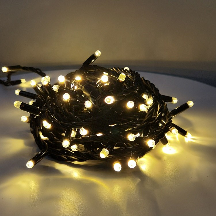 Flexible Rubber Wire Outdoor IP65 Waterproof 180 Luminous Angle Christmas Light LED String