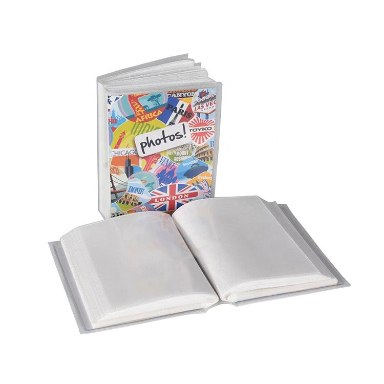 Custom Colored Cover 24 Clear Sheets 48 Inner Pages 48 Pockets PP Plastic Photo Album In Stock