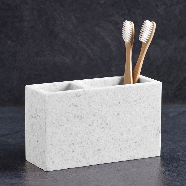 New Classical Cream Hotel Decorative Resin Tooth Brush Holder