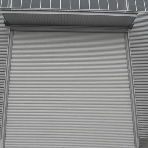 Strong Resisting Hurricane Shutter Door Industrial Windproof Roll Up Main Gate For Warehouse or Factory