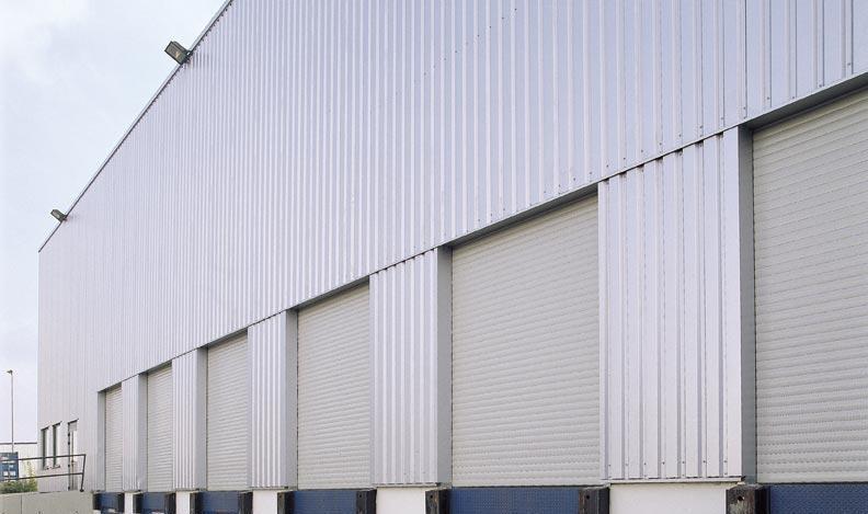 Strong wind-resistant industrial windproof rolling shutter door