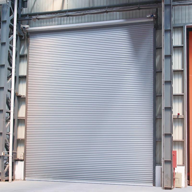 Double Layer Slat Roller Shutter Automatic Aluminum Rolling Door Manufacturer Free N95 Mask