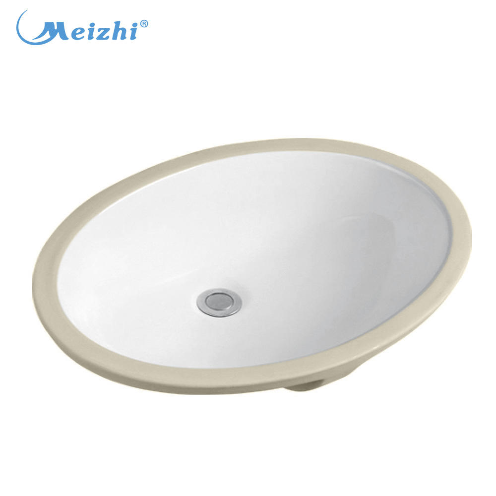 Ceramic one piece bathroom sink and countertop