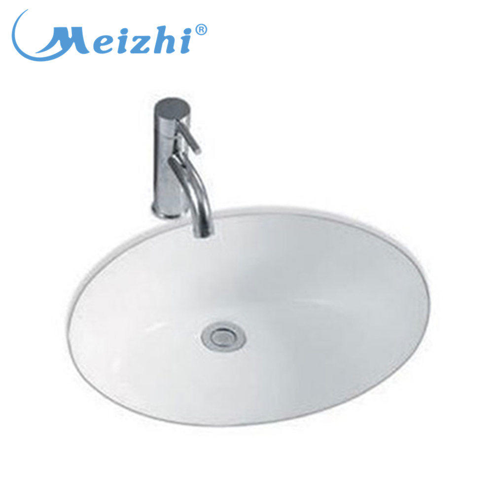 Small size porcelain under counter wash basin