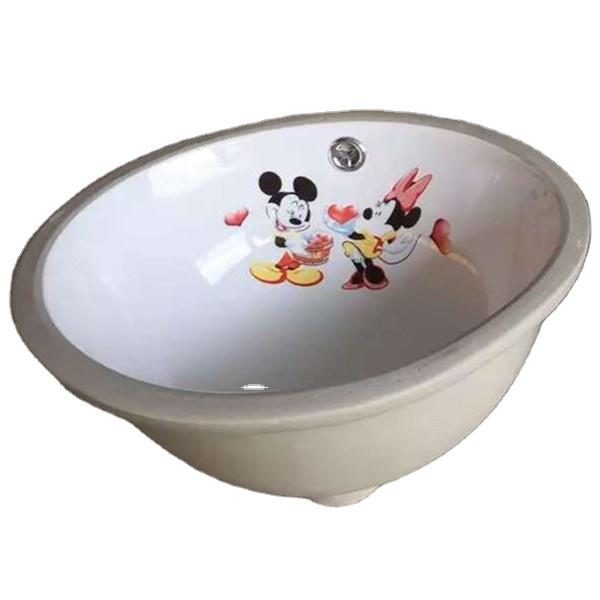 small wash basin for Children with cartoon decal