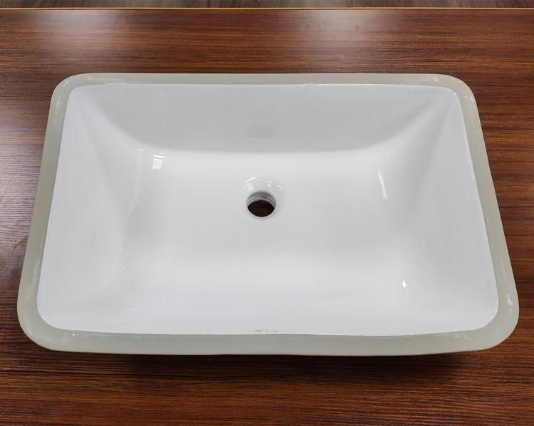 Ceramic bathroom under-mount sink marble cabinet basin