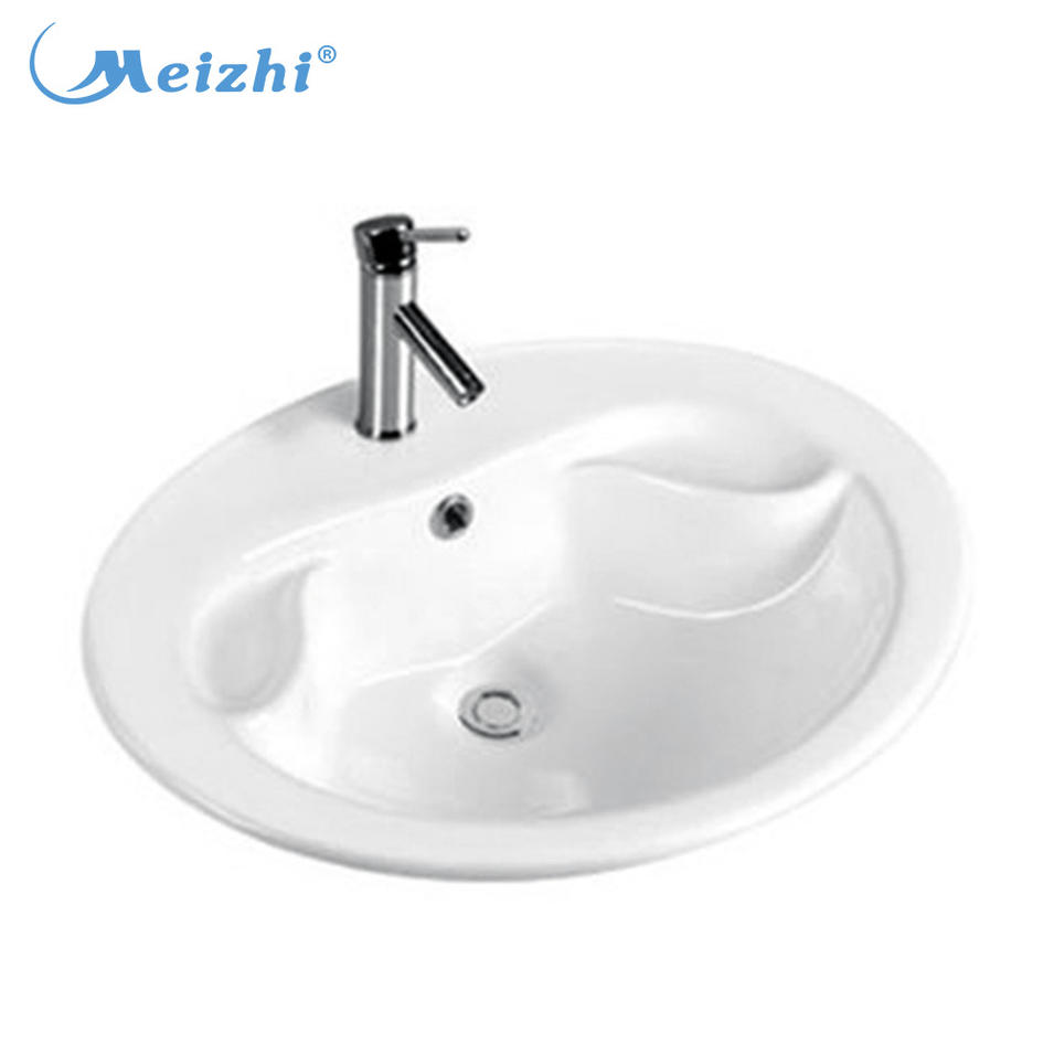 Ceramic porcelain counter top wash hand basin