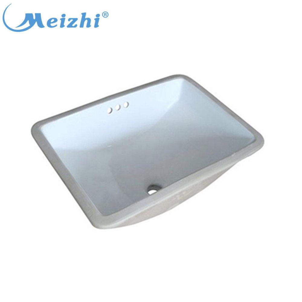 Bathroom square ceramic undercounter basin