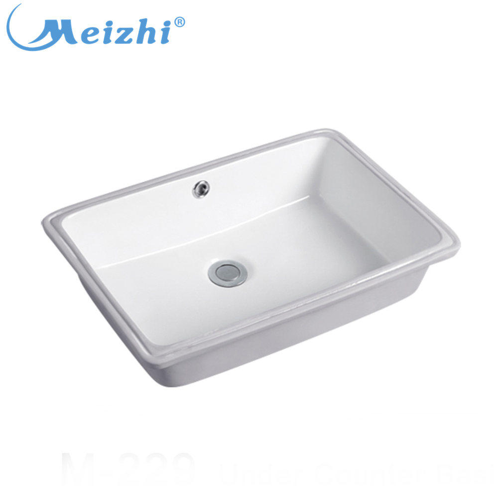 New model under counter wash basin rectangular bathroom sink