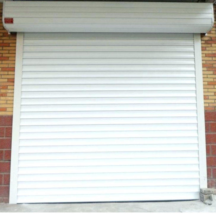 White Color Double Layer Slat High Quality Factory Price Aluminum Roller Shutter Door