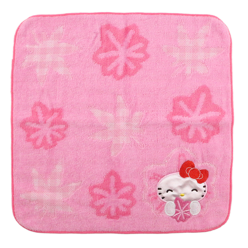 Custom cotton baby jacquard Kitty cat cotton baby hand towel for children