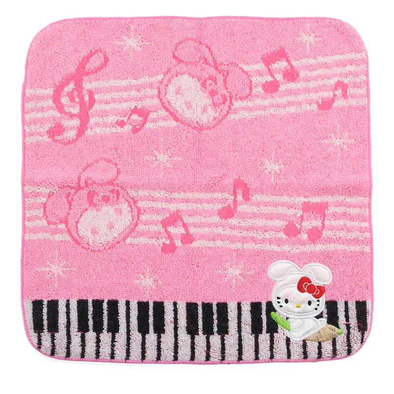 Custom logo cotton hellokitty baby face jacquard cartoon small cotton children's hand towel