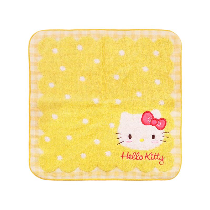 custom logo cotton hellokitty baby jacquard design cartoon small cotton hand towel set gift kids baby