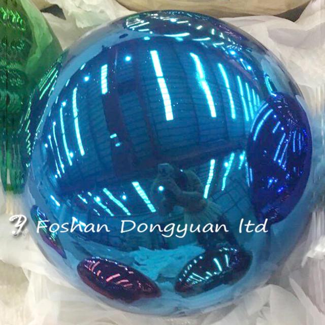 300mmBlueColorStainless SteelOutdoor Decorative Sphere