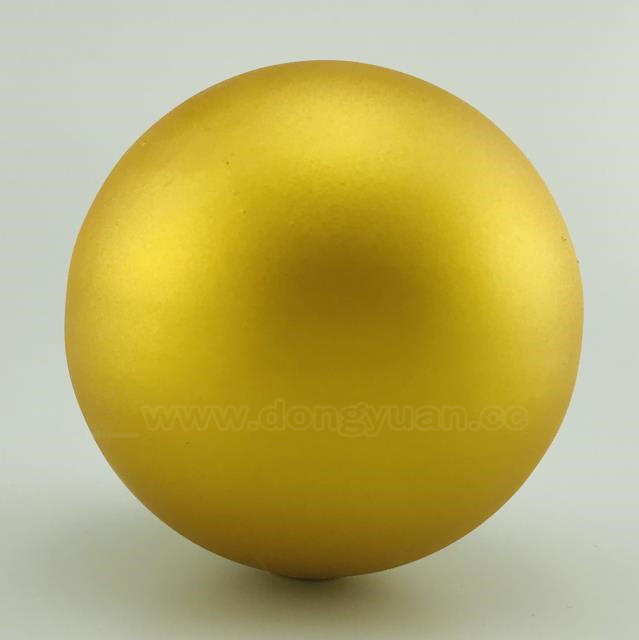 Giant Christmas StainlessSteel Ball with Matt Gold Color