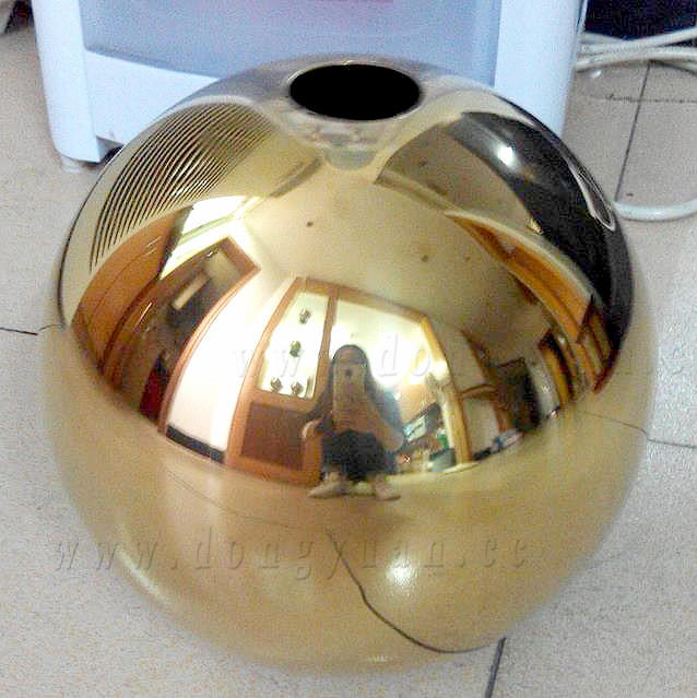 Stainless Steel DecorationBallwith Green Color for Christmas Tree Ornaments