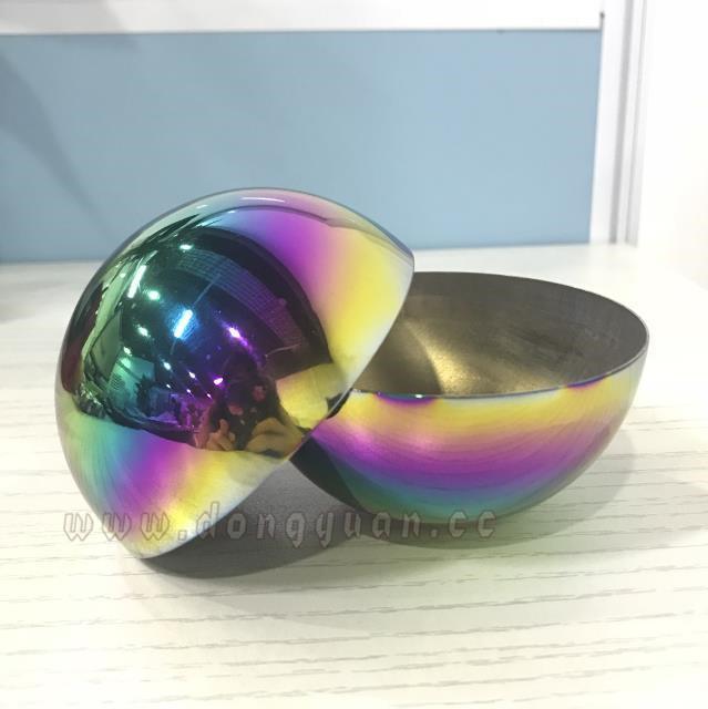 Iridescent Rainbow Color Stainless Steel Half Ball