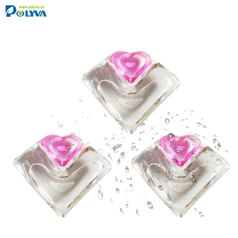 polyva 2 in 1 water soluble film laundry detergent liquid pod Healthy Laundry Washing Green Productlaundry detergent pods