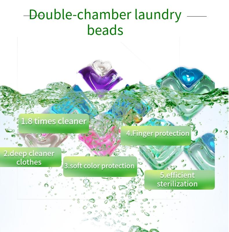 2 in 1 OEM & ODM apparel cleaning laundry beads capsules liquid laundry detergent pods