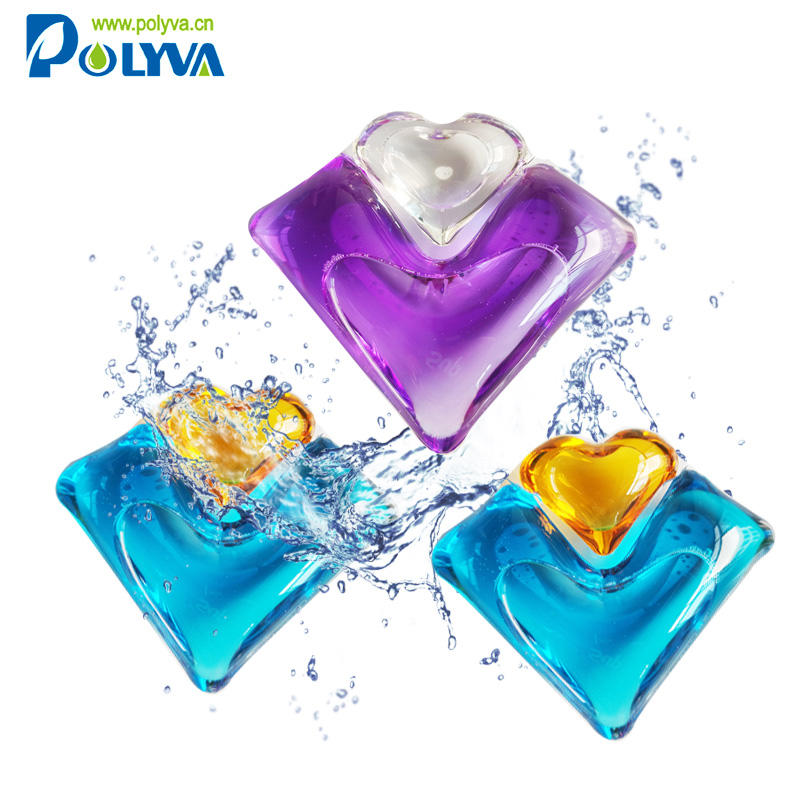 polyva 2 in1 washing capsules eco-friendlly natural no residual laundry pods laundry liquid detergent capsules laundry pods