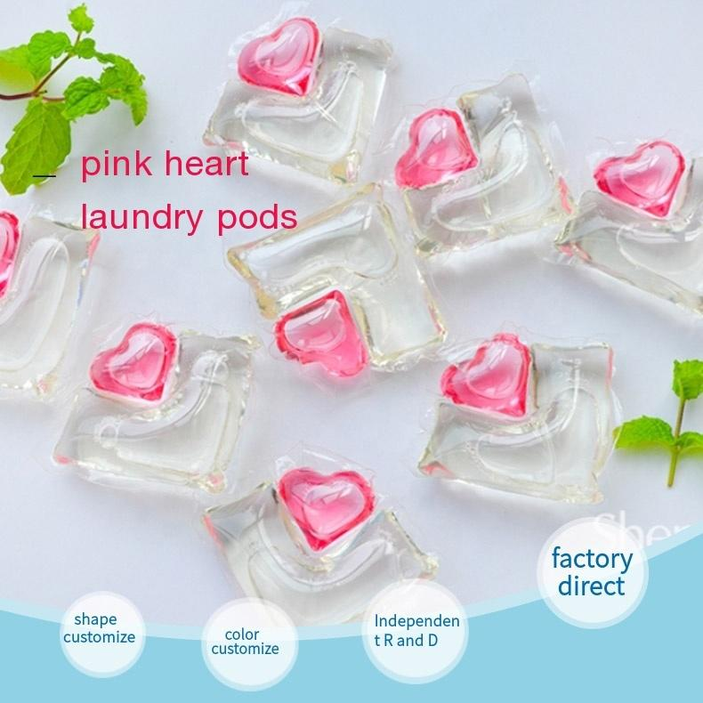 OEM 15g High Quality Fragrance double chamber laundry detergent capsules Liquid Washing Detergent laundry pods Eco-friendly