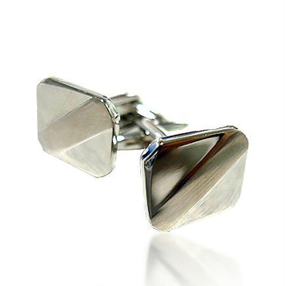 Distinctive shiny custom design silver saxophone cufflinks