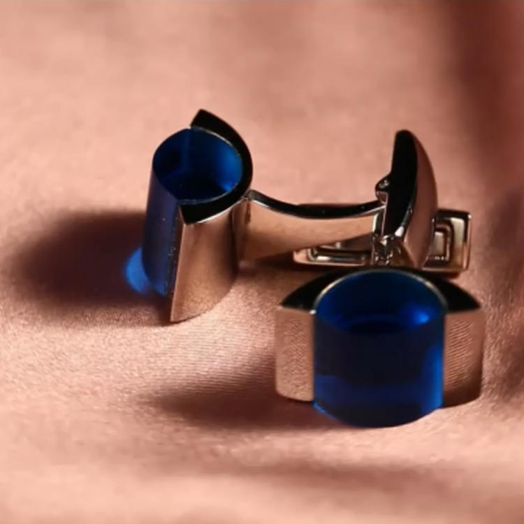 Manufacturer Luxury Wedding Crystal Sterling Silver Brass Set Mens Custom Cufflink Blank