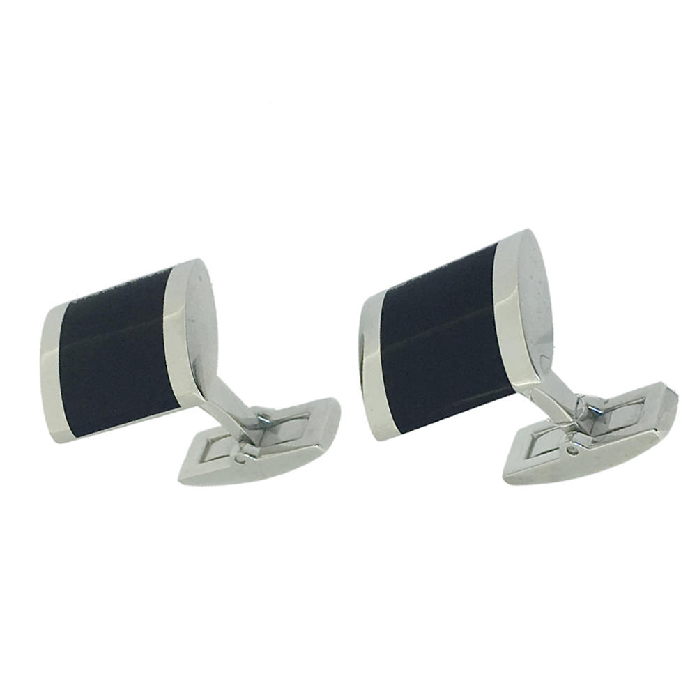 Black enamel shiny career related french shirt cufflinks