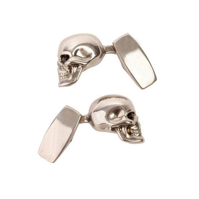Wholesale worldwide skull design casting cufflink