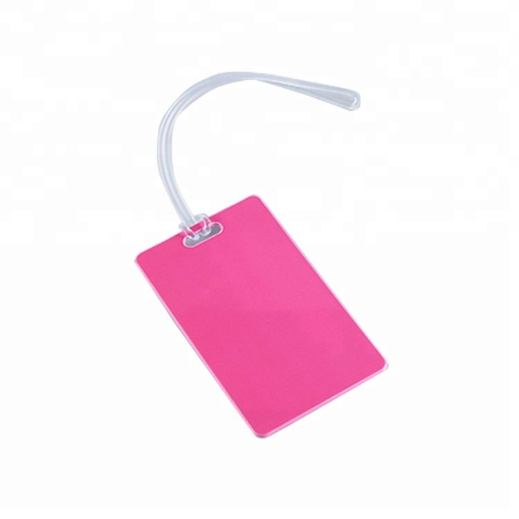 Custom pvc plastic wholesale luggage tags for airplane travel
