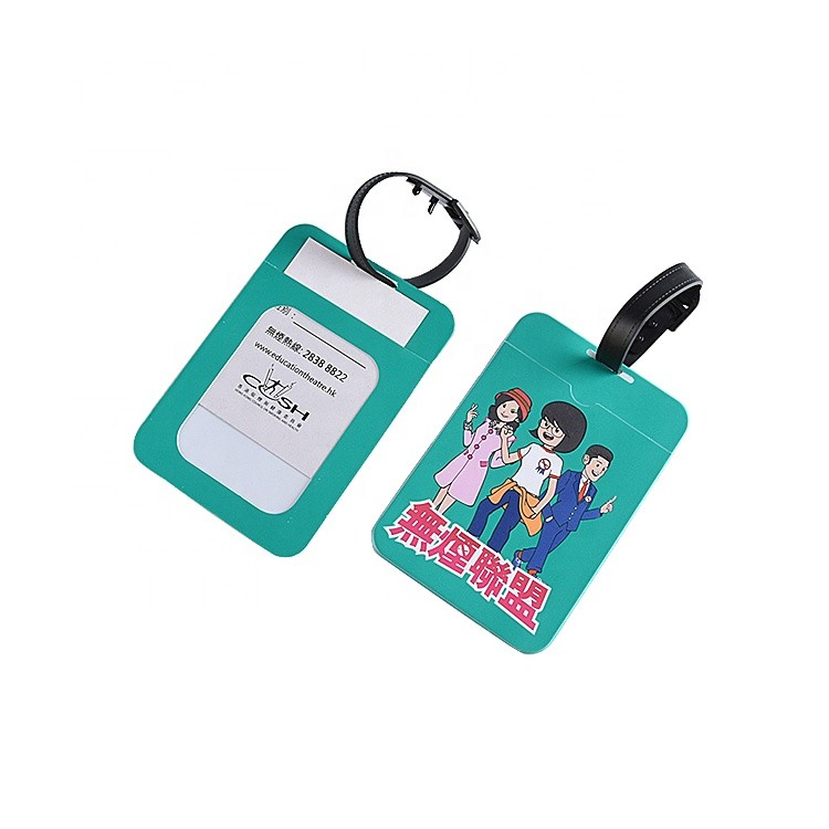 Factory Direct Sale Custom Personalised High Quality Eco-Friendly Pvc Plastic Luggage Tags