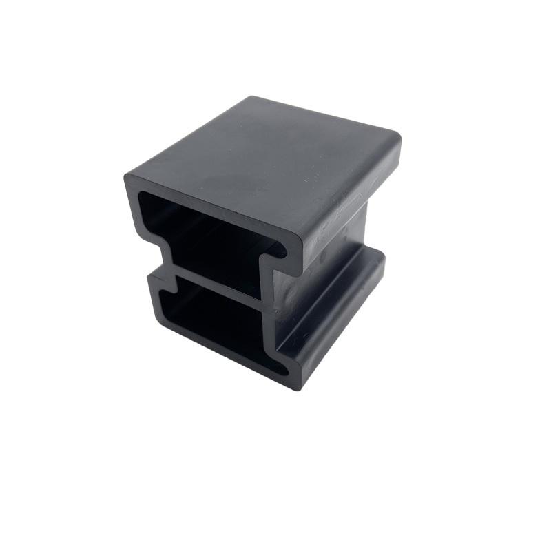 Customized plastic products Black Plastic block