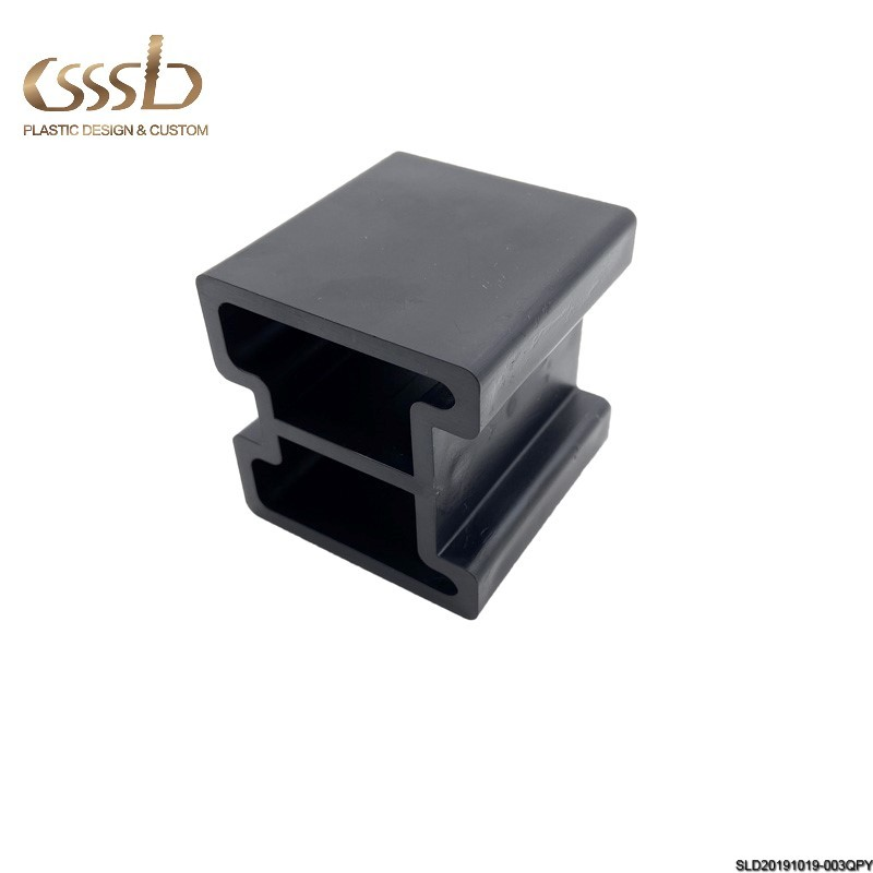 furniture plastic accessory black block empty injection parts HIPS molded