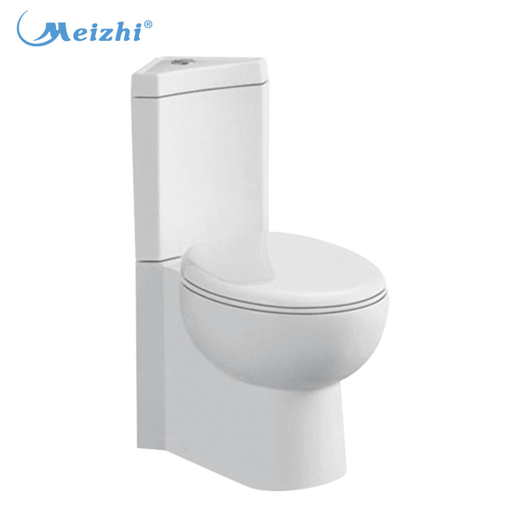 European luxury ceramic two piece wc corner toilet