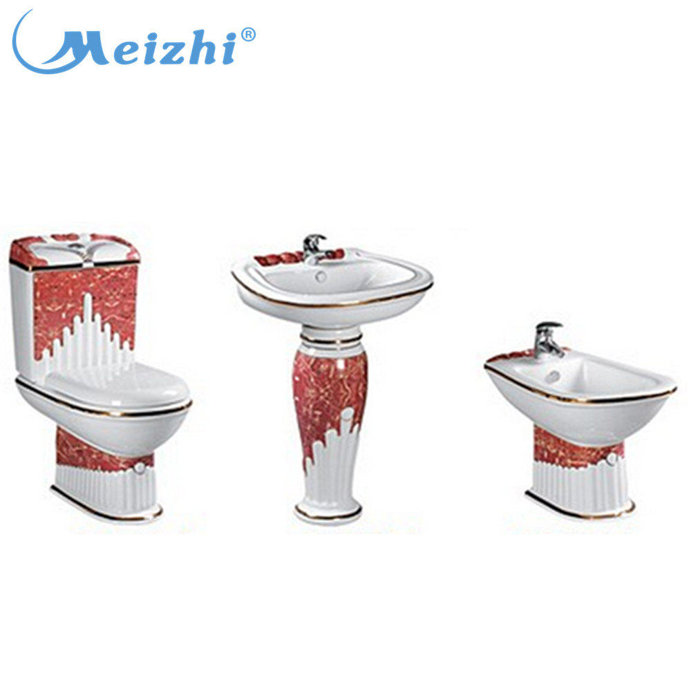 luxury toilet and bathroom set