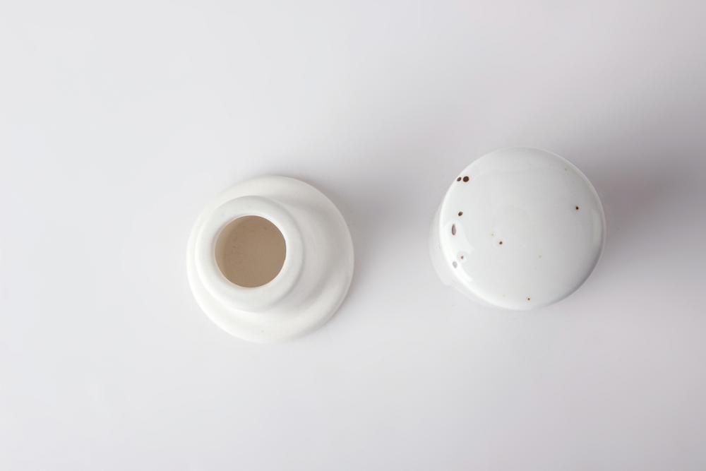 Porcelain Ceramics Neutral Toothpick Stand For Restaurant