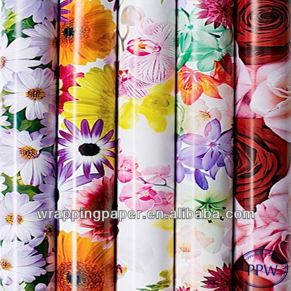 Waterproof for flower wrapping paper design