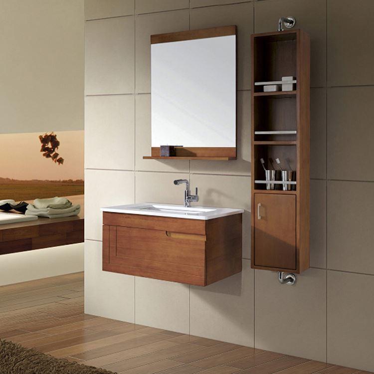 Wall Hung Furniture Design Wooden Mirror Cabinet Bathroom Vanity Units