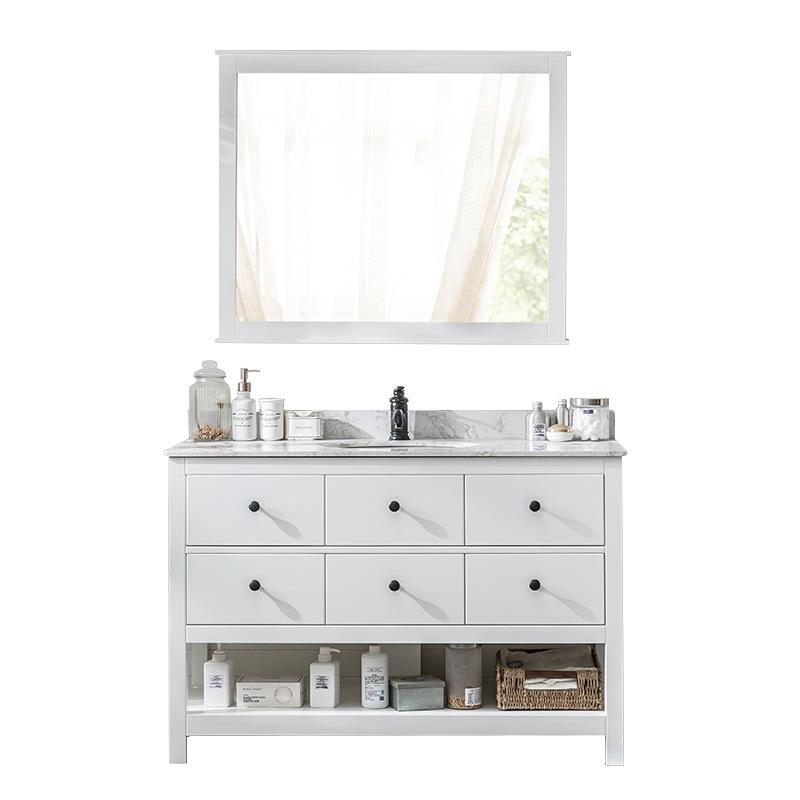 Manufacture Mirror Pvc Rustic Master Bathroom Cabinet