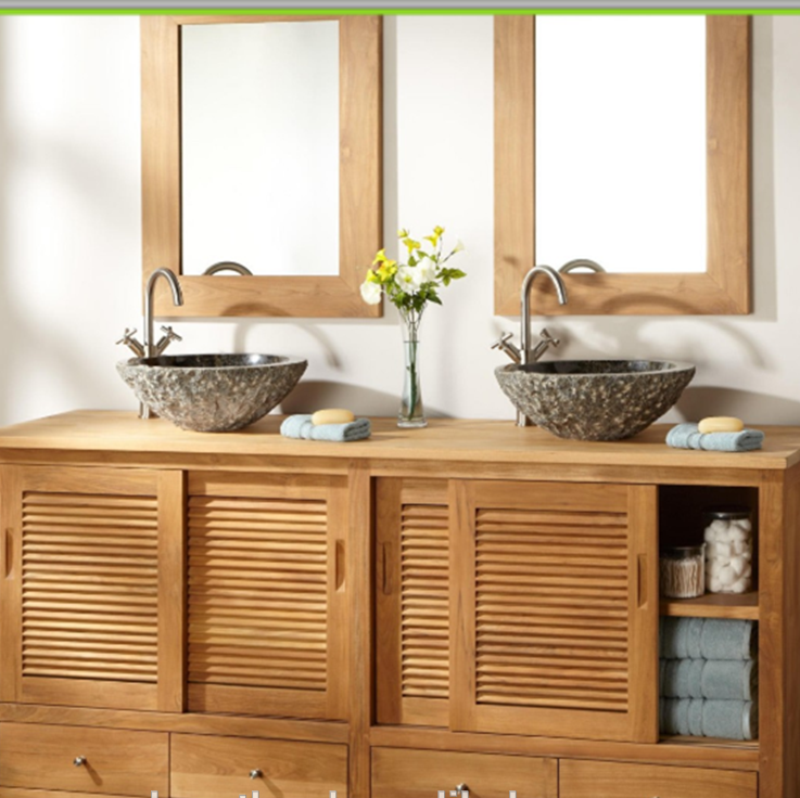 Antique Cabinet Style Painted Shaker Wood Mirror Modern Bathroom Vanities Cabinet