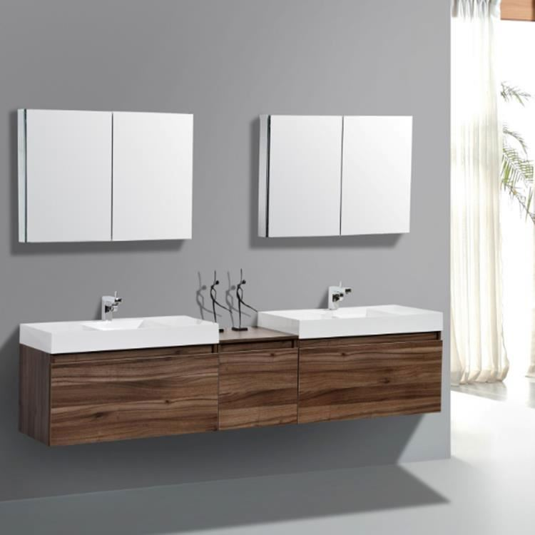 Modern Luxury Double Sink Bathroom Vanity Cabinet