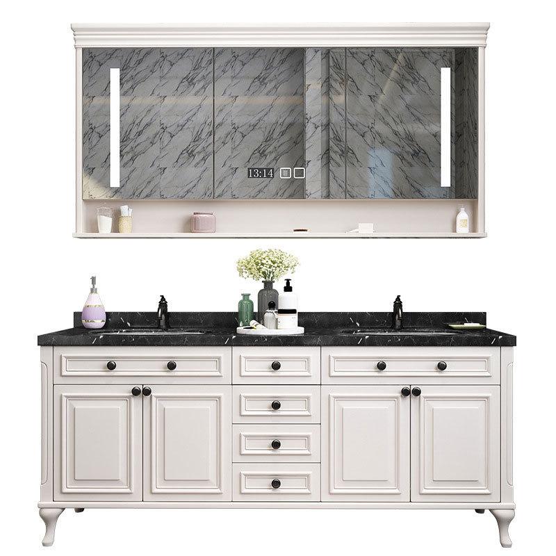 American bathroom vanity floor solid wood bathroom cabinet smart mirror cabinet washbasincombination toilet washstand