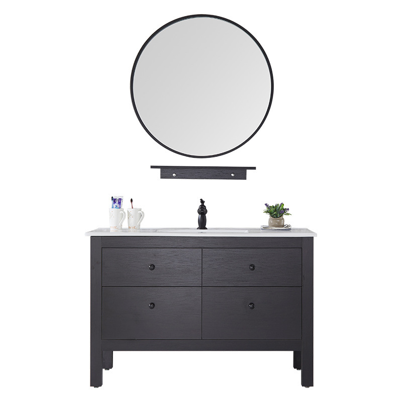 Factory direct wholesale Nordic bathroom vanity combination American floor bathroom sink washbasincabinet