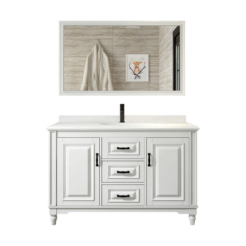 American smart bathroom vanity oak washbasin cabinet combination solid wood toilet washbasin basin mirror cabinet